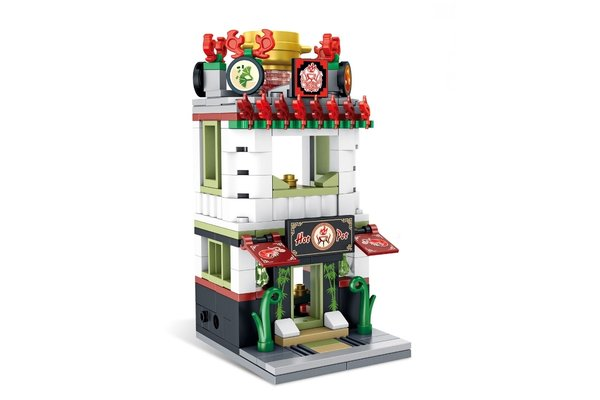 Panlos 657036 - Mini Street View Modular Hot Pot Restaurant